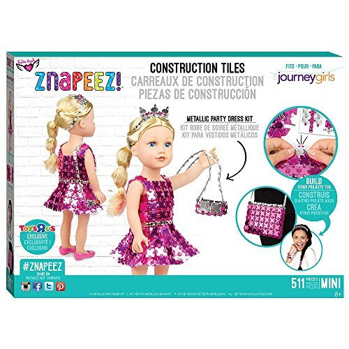 Fashion Angels Znapeez! Metallic Party Dress Kit and Bonus Squinkies Ornament Party Angel Dress