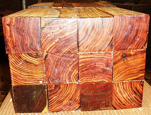5 pieces cocobolo rosewood turning squares 2'' x 2'' x 17'' long REAL ROSEWOOD! by Diamond Tropical Hardwoods