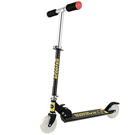 Hosamat Scooter for Kids with LED Light Up Wheels, Adjustable Height A3 Kick Scooters, 5lb Lightweight Folding Kids Scooter, 110lb Weight Capacity, ...