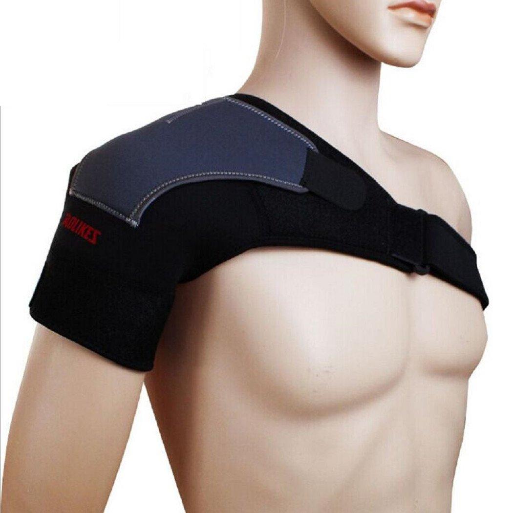 wonzone肩サポート圧縮暖かさ保護ギア調節可能なパッドベルトバスケットボールフィットネススポーツショルダープロテクターブレース肩サポートストラップ Right Shoulder  B01CY4GWNI