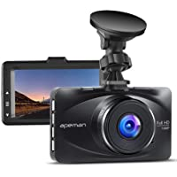 APEMAN Dash Cam FHD 1080P 3.0 inch LCD Screen Dashboard Camera Car Driving Recorder with 170 Degree Wide Angle,WDR,G-Sensor,Loop Recording,Motion Detection