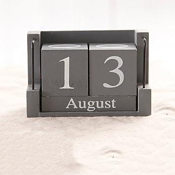 LINGZHIGAN Modernen Heimtextilien Schlafzimmer Kreative Kalender Dekoration  Studie Wohnzimmer Holz Schreibtisch Zubehör ( Farbe : A