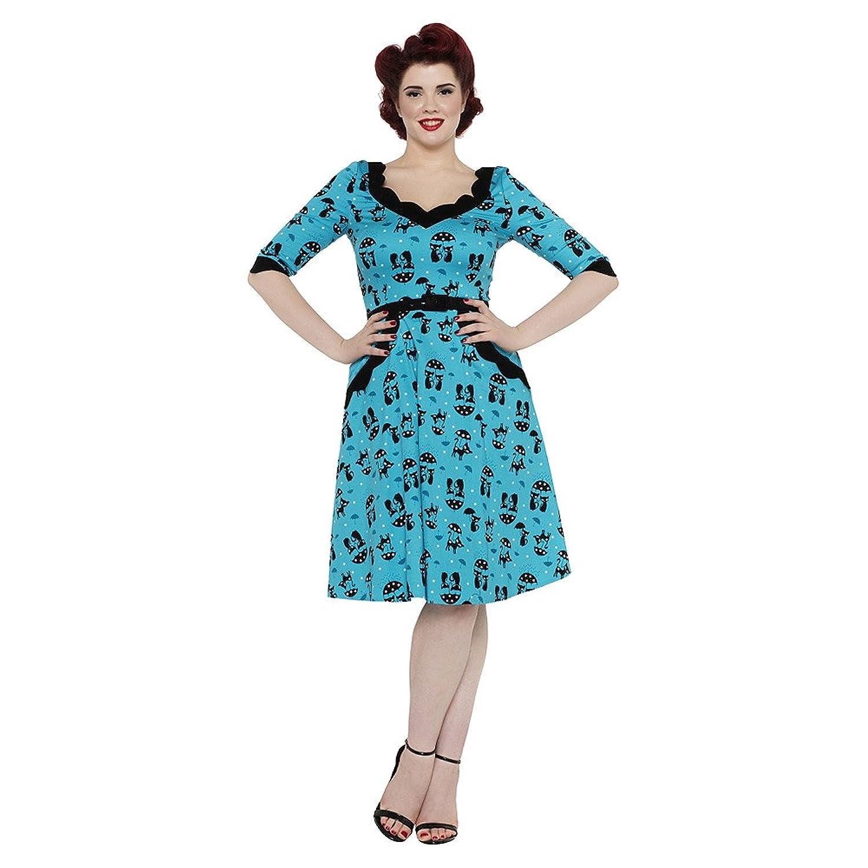 Voodoo Vixen Katnis Kleid (Blau)