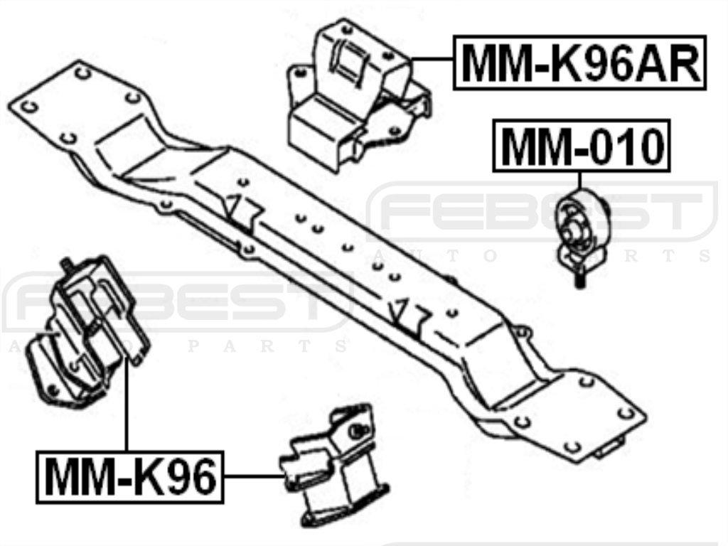 Febest Engine Mount For Mitsubishi Mr267864
