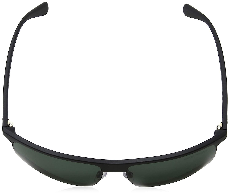 e4e6950eba3 Emporio Armani sunglasses (EA-4108 504271) Matt Black - Matt Gun - Grey  green lenses at Amazon Men s Clothing store