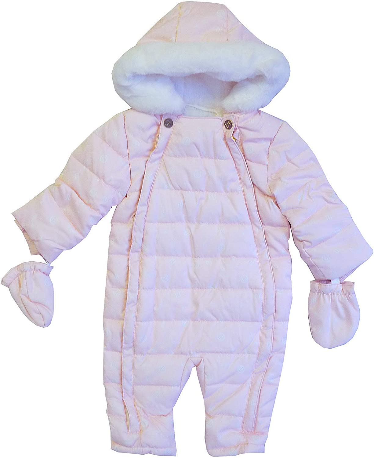 Get Wivvit Baby Girls River Island Pink Pramsuit Hooded Snowsuit Coat Sizes  from Newborn to 7 Months