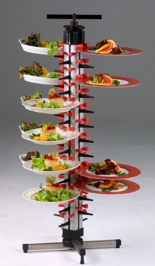Plate-Mate TM48-200 Stainless Steel 48 Plates Table Model Catering Table Rack, 325 lbs Capacity, 45'' Height
