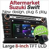 Aftermarket Car DVD Player For Suzuki Swift Year 2004-2010 Head Unit MP3 USB SD Card CD Radio Stereo In Dash SS06ADVD Facia Fascia ISO Kit MP4 DIVX RMVB MPG