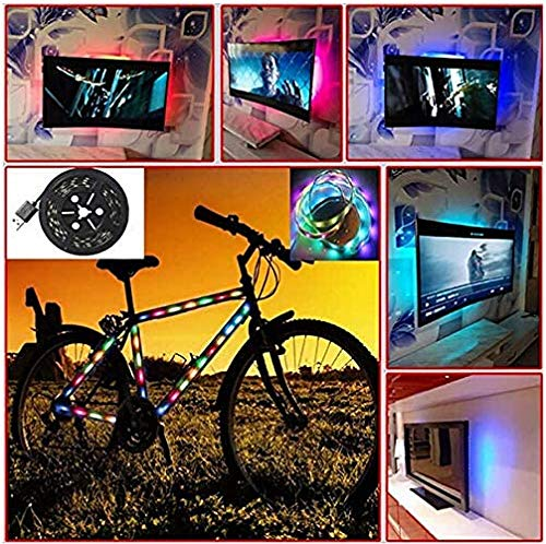 UNSKAM LED Lights Colored Strip Light TV Back Lamp RGB Light Bar USB Powered with Controller for TV Computer Background Light Decoration,Outdoor Bicycles,Cars