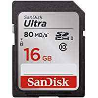 SanDisk Ultra 16GB Class 10 SDHC UHS-I Memory Card up to 80MB/s (SDSDUNC-016G-GN6IN)