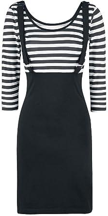 Rockabella Compass Dress Mittellanges Kleid schwarz weiß  Amazon.de   Bekleidung 8578b8bf22