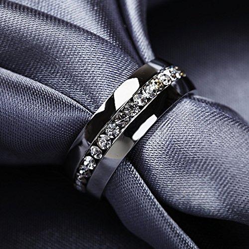 luxusteel 2016 moda 316l acero inoxidable Classic Compromiso Regalo Anillos de Boda Joyería: Amazon.es: Joyería