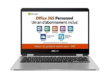 f11c89a644ae67 Asus Vivobook flip TP401MA-EC012TS PC portable 14 quot  Gris Clair (Intel  Pentium,