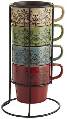 Scroll Stacking Mugs | Pier 1 Imports