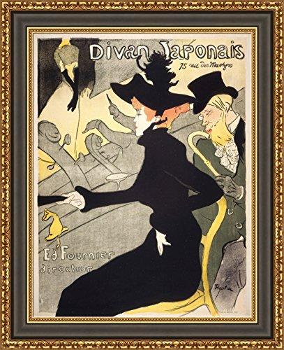 (V17-25-26) Henri_de_Toulouse-Lautrec_Divan_Japonais_Framed_Canvas_Giclee_Print_W17_x_H22