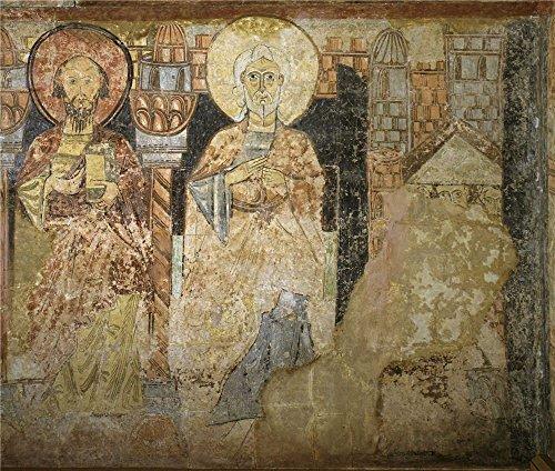 Oil Painting 'Anonymous 12 Century Dos Apostoles ' Printing