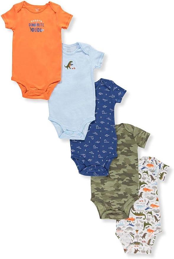Carters Baby Boys Multi-pk Bodysuits 126g333 6 Months, Orange//Green//Blue