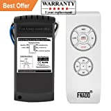 Fnado F2-U Universal Ceiling Fan Lamp Remote Controller Kit & Timing Wireless Remote Control for Ceiling Fan , Scope of Application Home/office/ hotel /the club / display hall /restaurant - White