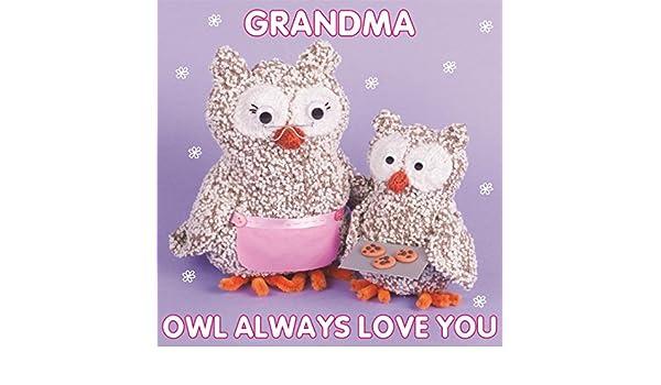 Tejer y tarjeta de cumpleaños - abuela búho Purl: Amazon.es ...