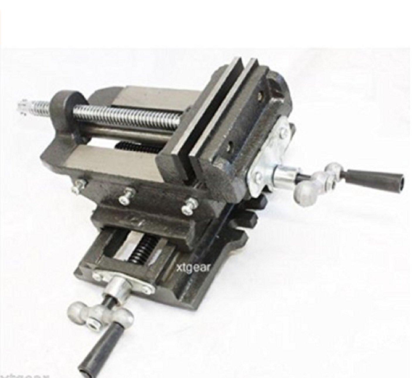 USA Premium Store 4'' Cross Drill Press Vise Slide Metal Milling 2 Way X-Y Clamp Machine Heavy Duty by USA Premium Store