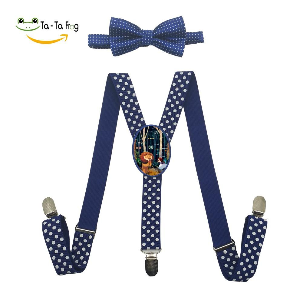 Xiacai The Wonderful World Suspender/&Bow Tie Set Adjustable Clip-On Y-Suspender Boys