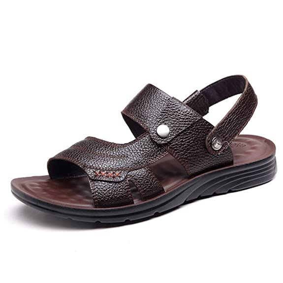 Einfach Herren Pantoletten Atmungsaktiv Weich Bequeme Sommer Peep-Toe Offenen Sandaletten
