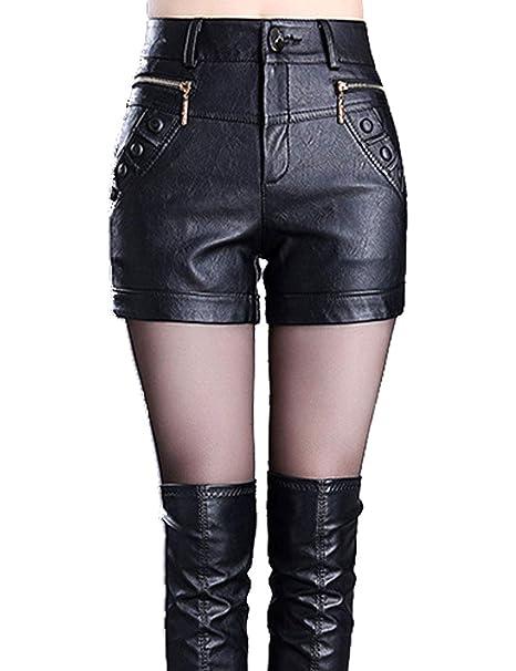 leather short shorts