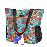 Original Floral Water Resistant Large Tote Bag Shoulder Bag for Gym Beach Travel Daily Bags Upgraded ([K] Pattern)