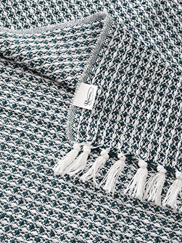 Bedroom Farmhouse Throws Blanket in Two Tone Honeycomb ,Picnic,Camping, Beach,Throws for Couch,Everyday Use, Cotton Throw… farmhouse blankets and throws