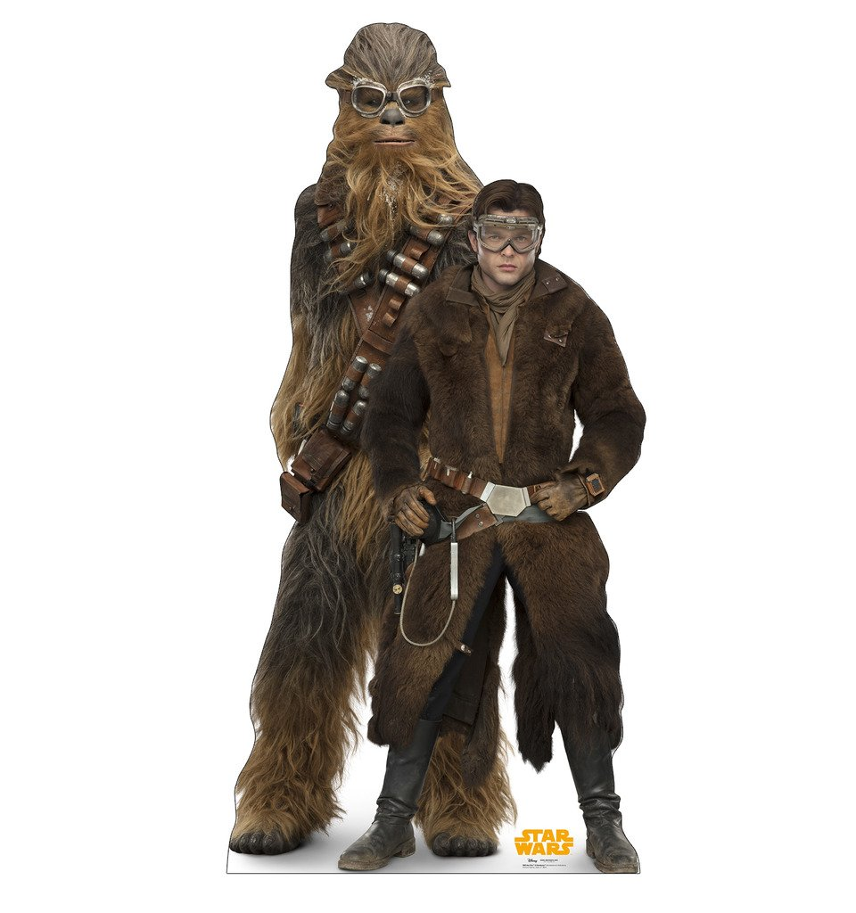 Advanced Graphics Han Solo and Chewbacca Life Size Cardboard Cutout Standup - Solo: A Star Wars Story (2018 Film) by Advanced Graphics