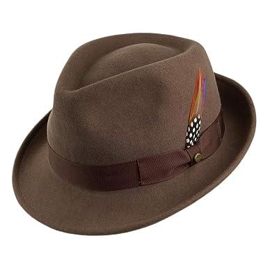 235bf3a1c562a Village Hats Sombrero Trilby Elkader flexible de Stetson - Marrón Claro -  XL  Amazon.es  Ropa y accesorios