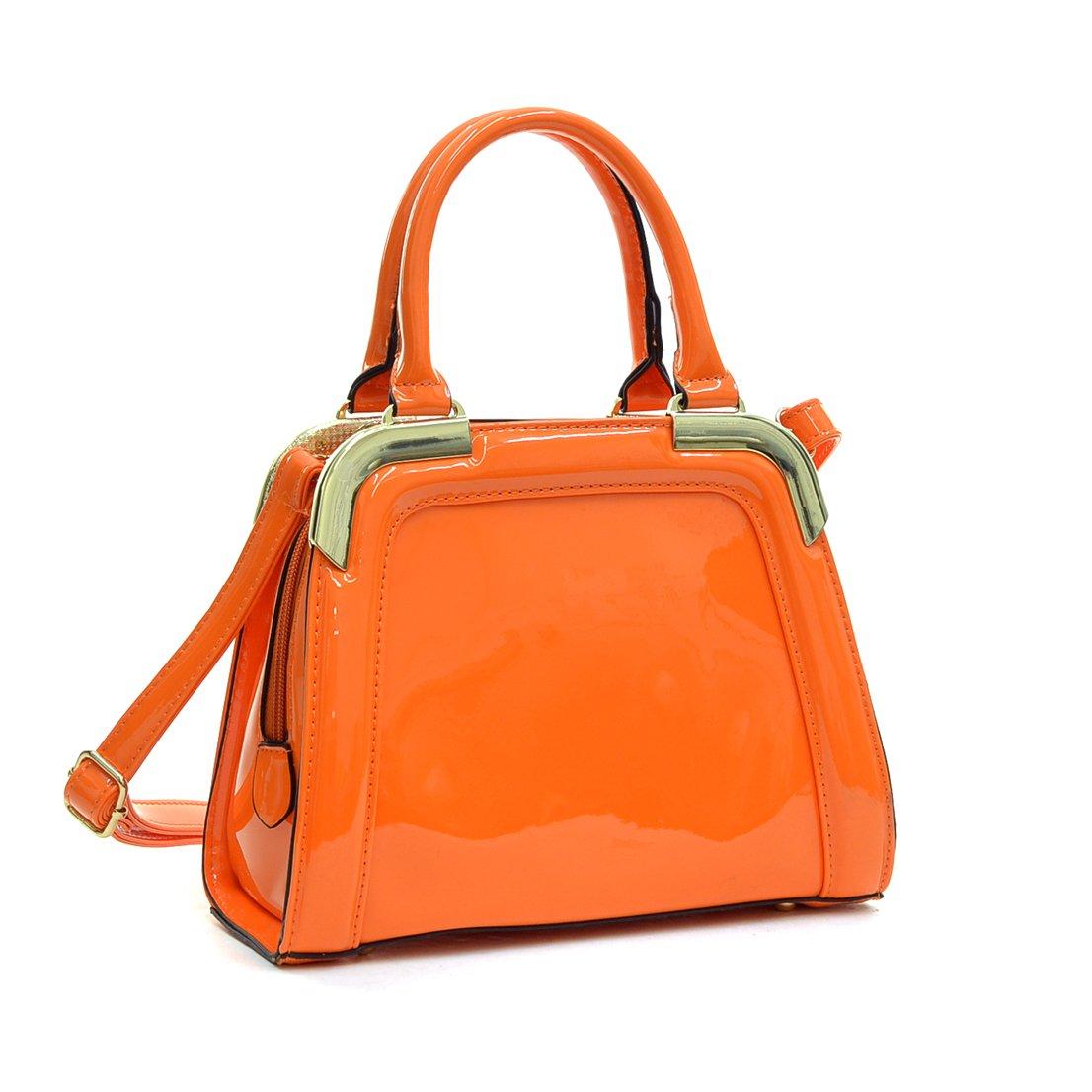 Vintage Handbags, Purses, Bags *New* Dasein Women Small Patent Leather Satchel Handbags Structured Purse Shoulder Bag $23.99 AT vintagedancer.com