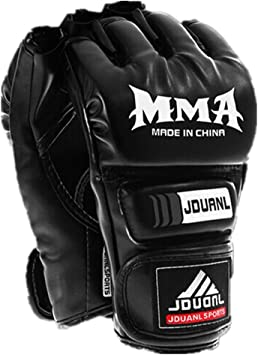 Adults PU Half Finger Boxing Gloves Fighting Sanda Sandbag Training Mittens