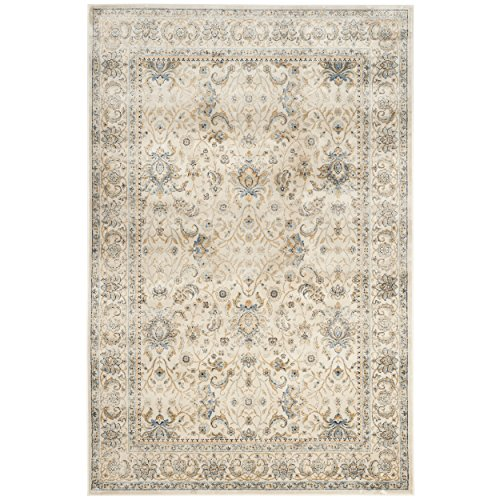 1 Vintage Garden (Safavieh Persian Garden Vintage Collection PGV607C Traditional Ivory Silky Viscose Distressed Area Rug (5'1