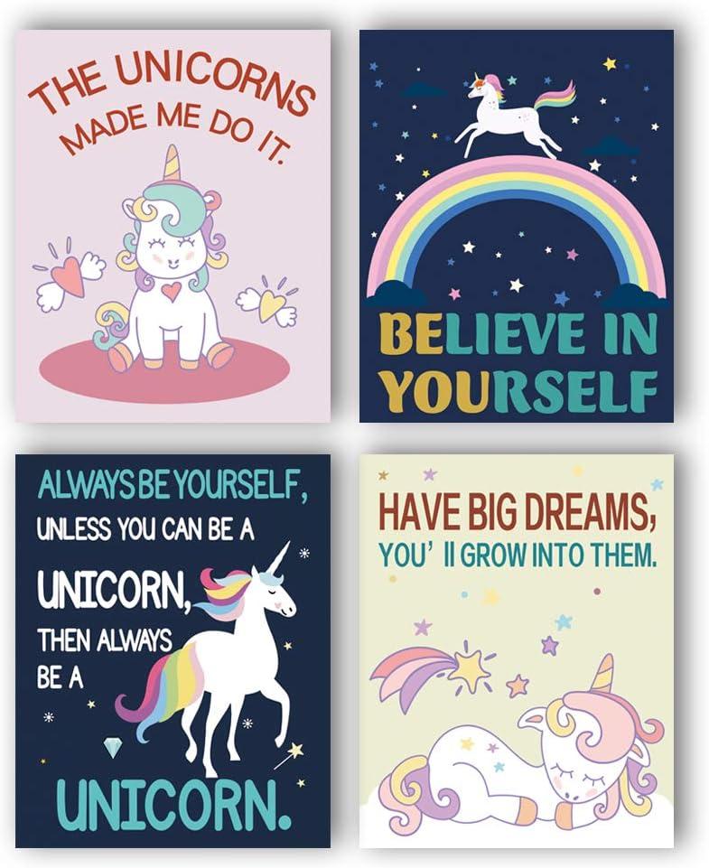 Unicorn Art Print Home Decor Wall Art Poster