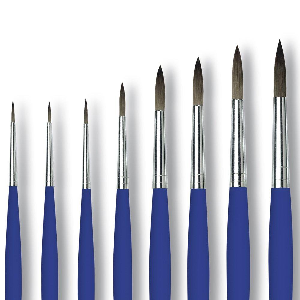 Artina Da Vinci - Set de 7 Pinceles Gato Lengua de Gato Pinceles - Serie 5030 Akademie - Virola sin Soldadura - Diversos Tamaños cb9fd8