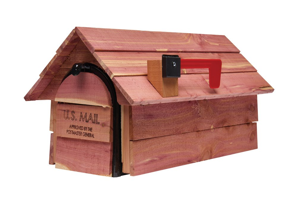Gibraltar Cedar Chalet Medium Capacity Aromatic Cedar Wood -  Post-Mount Mailbox  CC2R0000 Solar Group