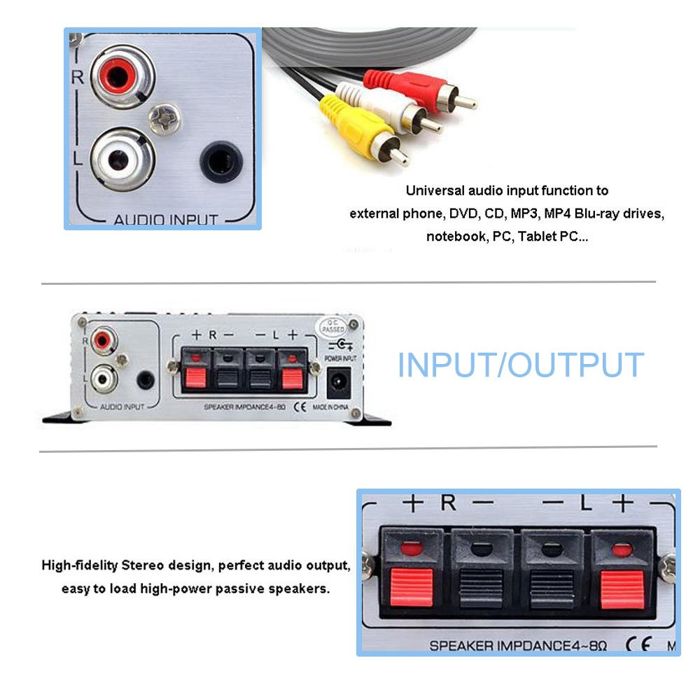 Lepy Lp 2024a Ha Hi Fi Audio Stereo Power High Impedance Input Tone Control Amplifier Car 3a Supply Cell Phones Accessories