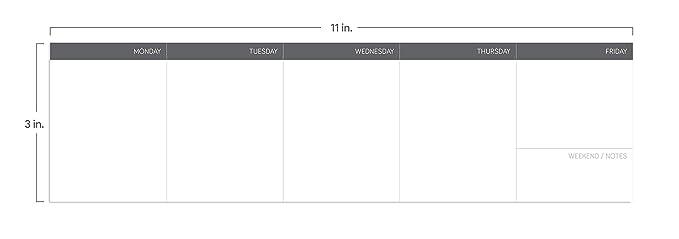Amazon.com: Notsu - Bloc de notas semanal | Se adapta debajo ...