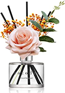 Cocodor Rose Reed Diffuser/Floral Bouquet/6.7oz(200ml)/1 Pack/Reed Diffuser, Reed Diffuser Set, Oil Diffuser & Reed Diffuser Sticks, Home Decor & Office Decor, Fragrance and Gifts