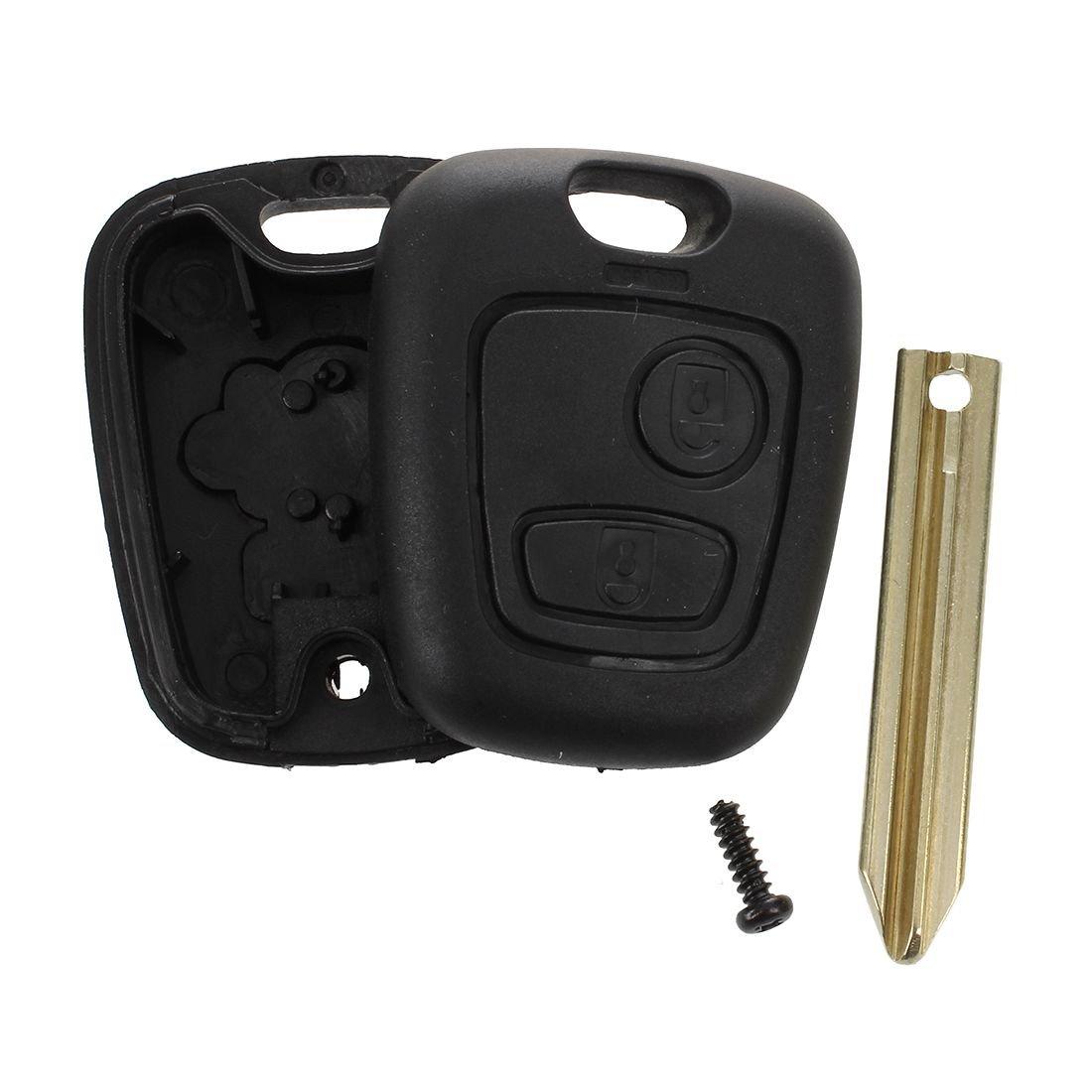 SODIAL(R) Cascara caja de llavero alarma remota de 2 botones para Citroen Saxo Xsara Picasso Berlingo