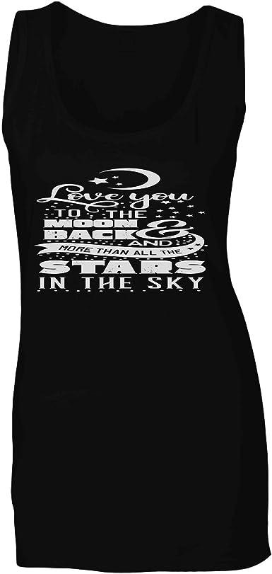 Te Amo A La Luna Negra Camiseta sin Mangas Mujer t662ft: Amazon.es: Ropa y accesorios