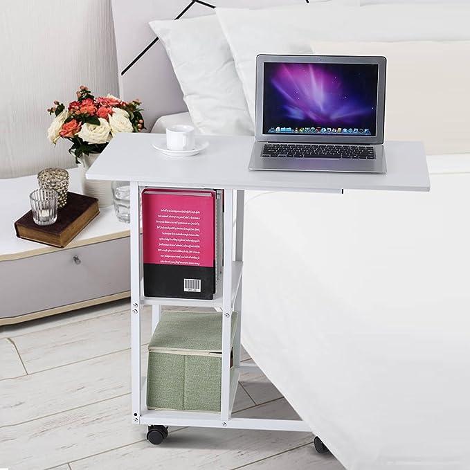 Betttisch Zerone Tisch Computer Multifunktionale faltbar Portabe aus Aluminiumlegierung Tisch Picknick-wei/ße gr/üne gr/ün