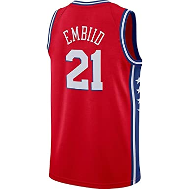 save off f8f50 8c4a4 Amazon.com: Joel Embiid Red Icon Edition Jersey: Clothing