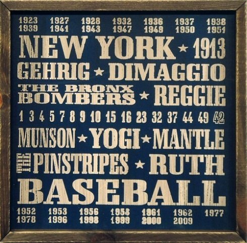 New York Yankees Vintage Style Wood Sign-18x18