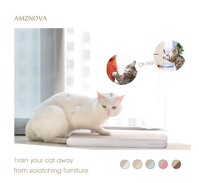 AMZNOVA rascador de Gato para cama y sofá almohadillas rascadores para gatos de carton reciclado corrugado gato rascando salón: Amazon.es: Productos para ...