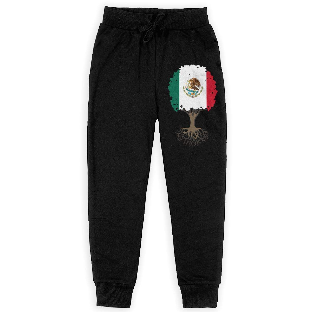 WYZVK22 Tree of Life with Mexico Flag Soft//Cozy Sweatpants Teenager Active Pants for Teen Girls