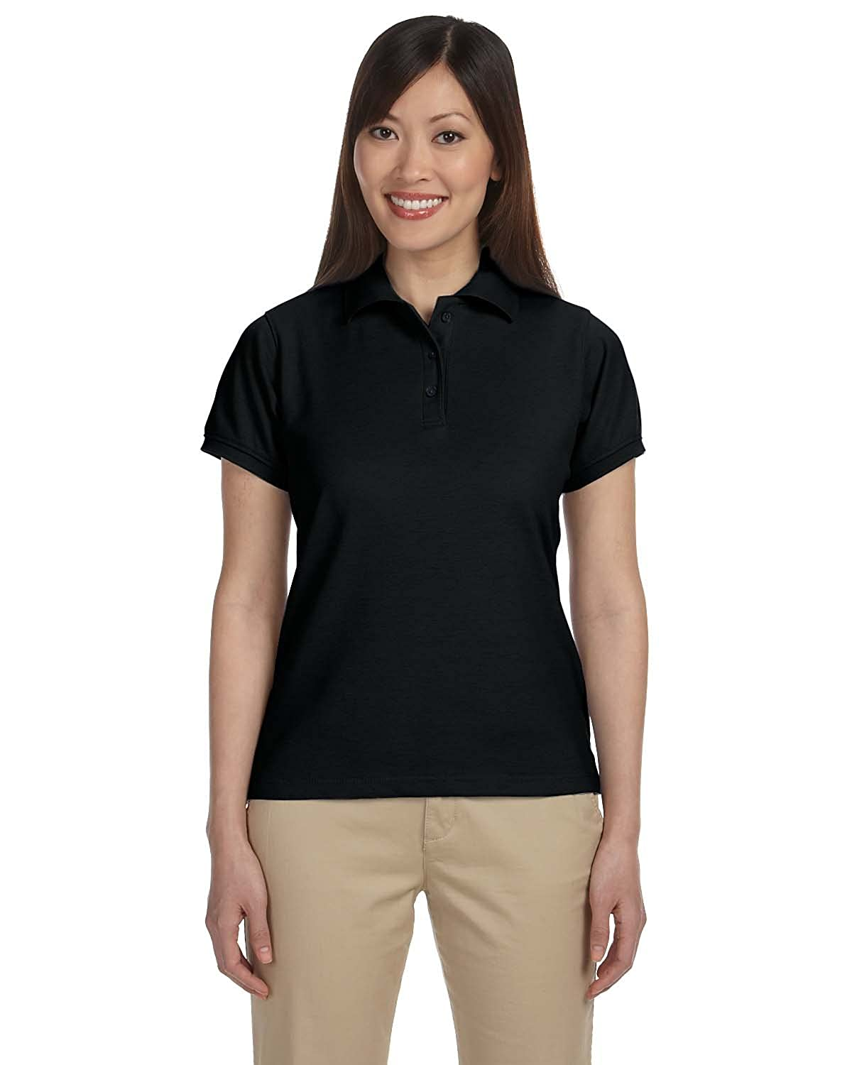 Ladies 5 oz BLACK S Ladies 5 oz Blend-Tek™ Polo Easy Blend Plus Polo