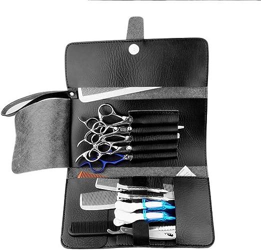 LINDANIG Tijeras para el Cabello de Cuero Paquete de la Cintura Mascotas Herramienta de peluquería Estuche para Bolsa Estilista Embrague (Color : Negro): Amazon.es: Hogar