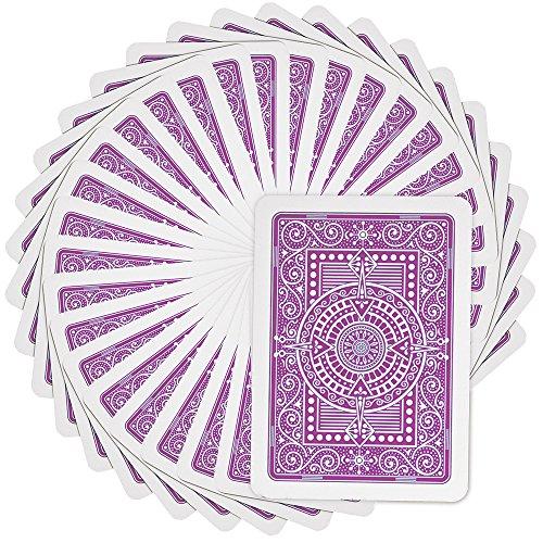 (Modiano Plastic Texas Poker Jumbo Playing Cards Purple)